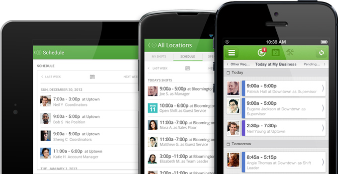 Employee scheduling apps for iPhone and Android
