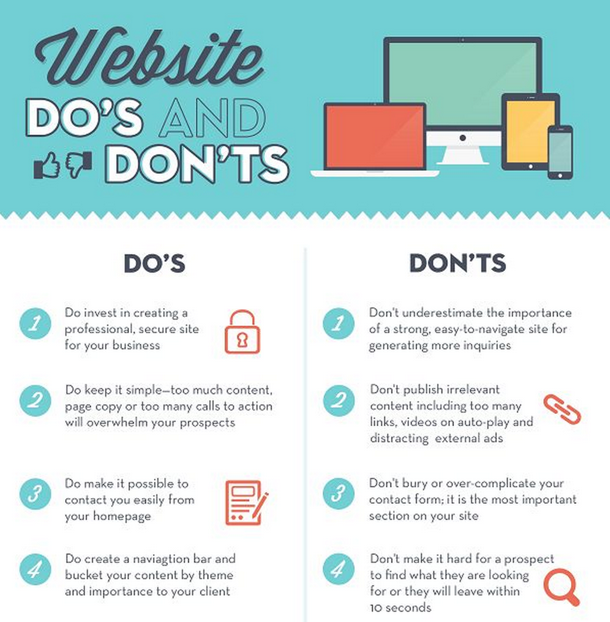 Website Dos and Donts