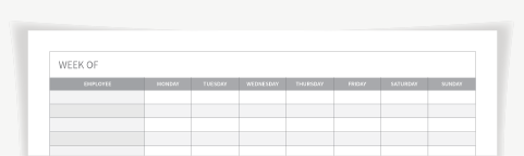 Free Printable Weekly Work Schedule Template For Employee Scheduling When I Work