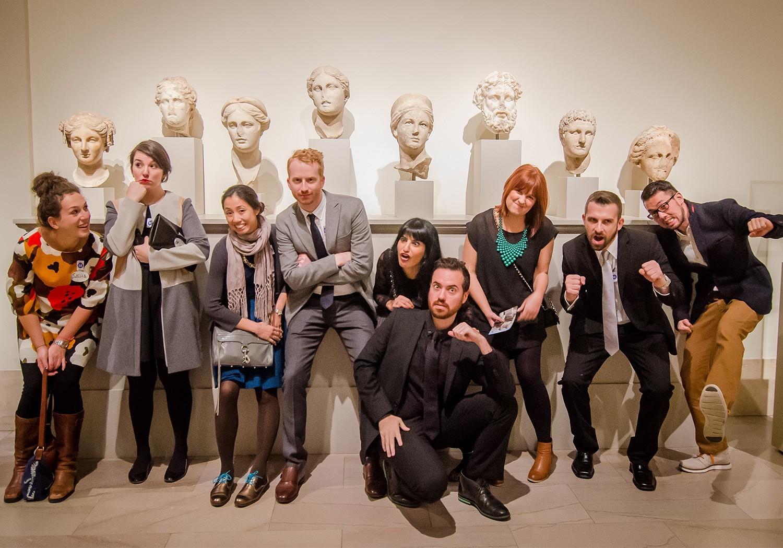 photo of museum hack team